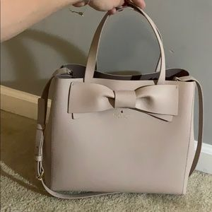 Kate Spade Nude Satchel with Bow